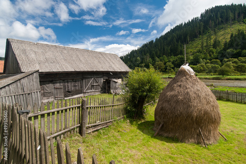 Traditional wooden farmhouse in Tranylvania, Romania