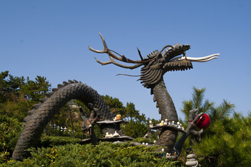 Chinese dragon statue. Year of the dragon