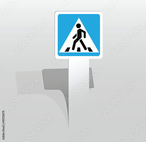 square pedestrian crossing sign