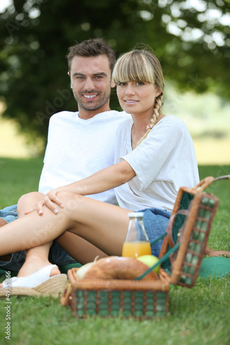 couple having picnic in the park