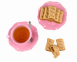 fig jam rolls with tea cup