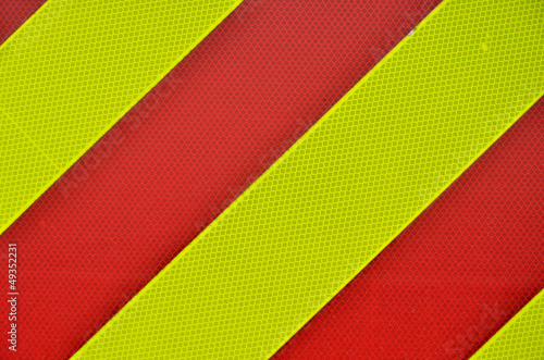 Yellow and red diagonal High Visibility Stripes