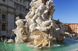 Rome, Piazza Navona, Fountain from Bernini in Italy