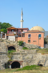 Amphitheatre And Minaret In Durres, Albania
