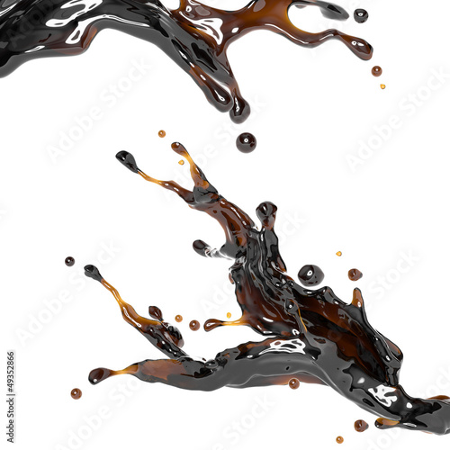 dynamic brown liquid drink splash