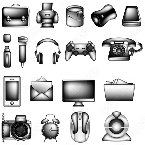 Black and White Icon Set ll