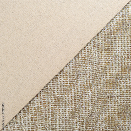 Background cardboard and burlap
