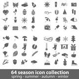 Fototapety season icons