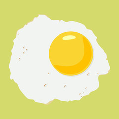 Fried egg. Vector illustration.