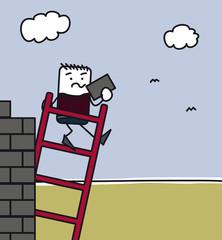Tomber d'une échelle