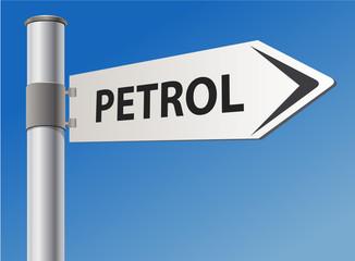 PETROL road sign