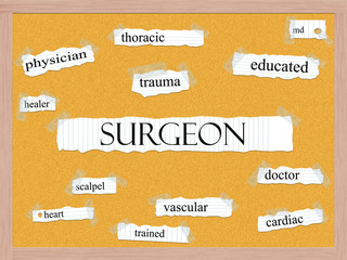 Surgeon Corkboard Word Concept