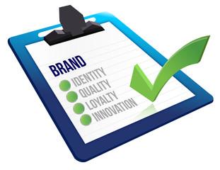 brand core characteristics clipboard
