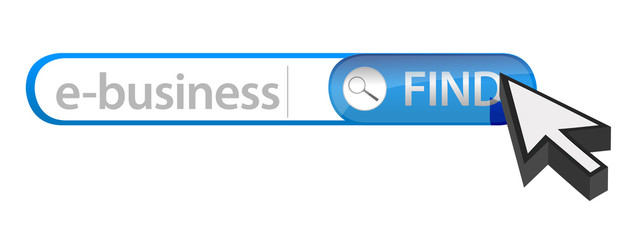 search bar containing the word e-business