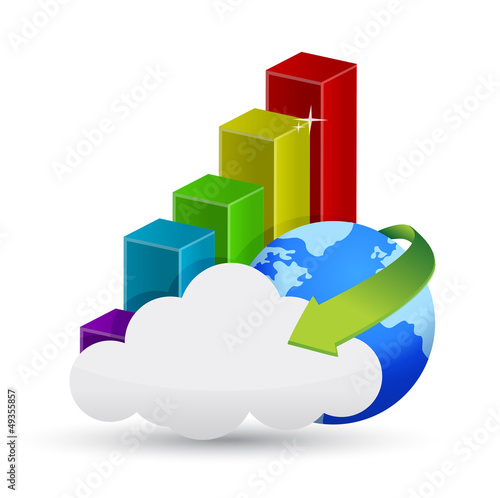 business graph cloud computing concept
