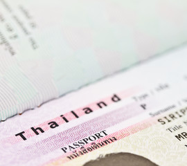 Thailand passport identifaction page