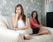 women  having quarrel at home