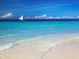 Fototapety Tropical beach, Boracay island, Philippines