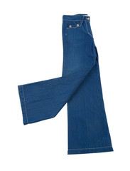 Elephant bell blue jeans