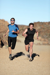 Runners - men sprinting