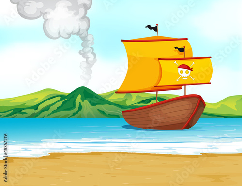 A ship of a pirate