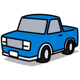 Cartoon Car 02 : Blue Pickup Truck
