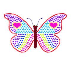 Бабочка из сердец