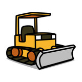 Cartoon Car 07 : Compact Bulldozer