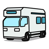 Cartoon Car 08 : Campervan