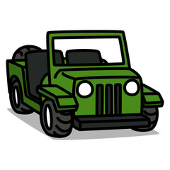 Cartoon Car 09 : Military Vehicle