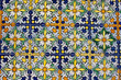 Floral Deisgn Tiled Wall Background
