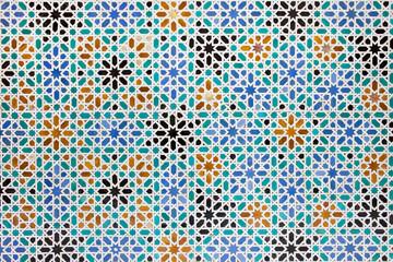 Azulejos Tiles in Mudejar Style Background