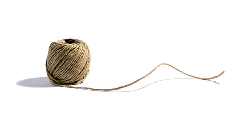 Natural household twine from hemp
