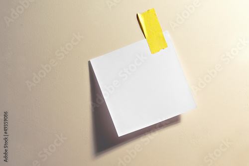 Blank note with tape