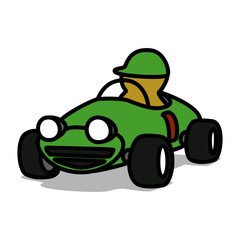 Cartoon Car 12 : Old Racing Car