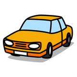 Cartoon Car 16 : Orange Sedan