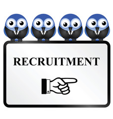 Business recruitment sign
