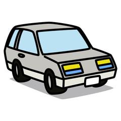 Cartoon Car 17 : Retro Hatchback