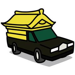 Cartoon Car 21 : Japanese Hearse