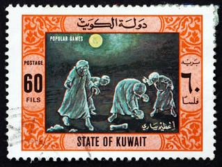 Postage stamp Kuwait 1977 Treasure Hunt, Popular Game
