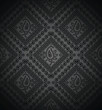 Rich black paisley background