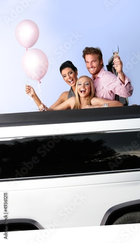 Party in limousine