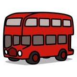 Cartoon Car 24 : Red Double Decker