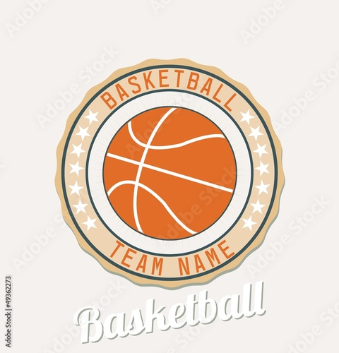 Basketball club emblem