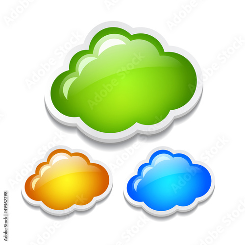 Glass vector clouds