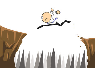 businessman jump