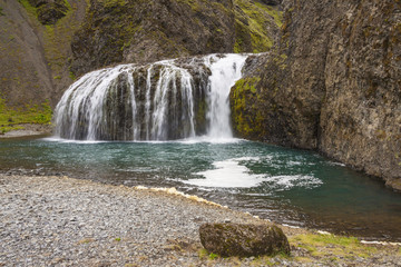 South part of Iceland. Small cascade.