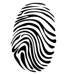 Black and White Vector Fingerprint