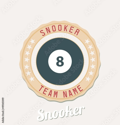 Snooker team emblem