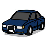 Cartoon Car 34 : European Sedan